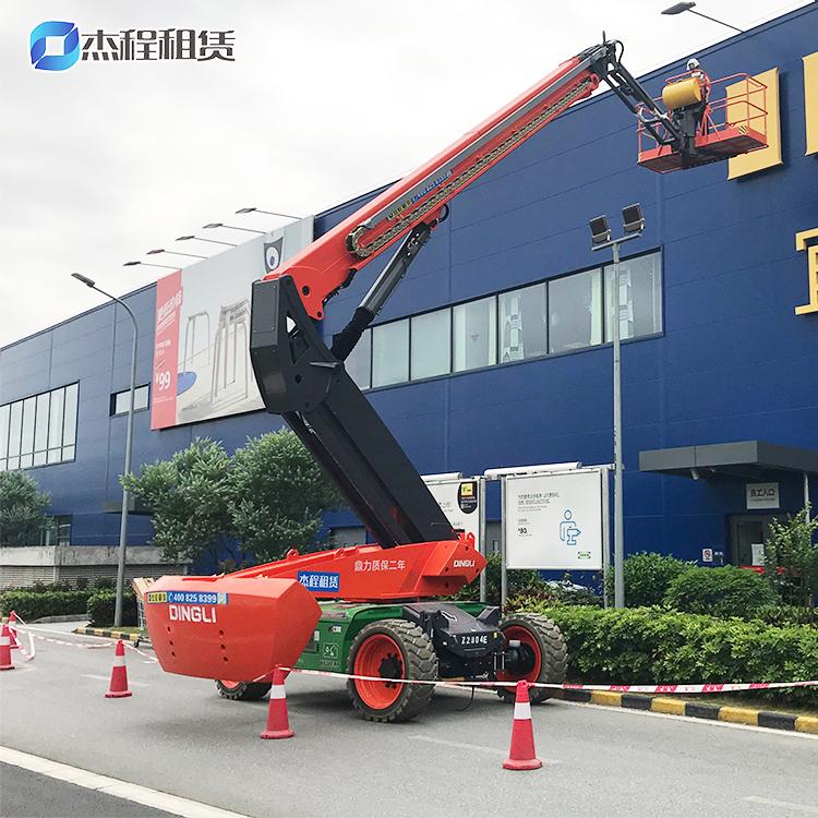 电动直臂高空车出租应用于广告牌安装