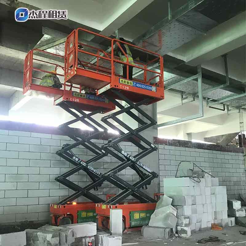 6米剪叉升降机出租应用厂房室内装修