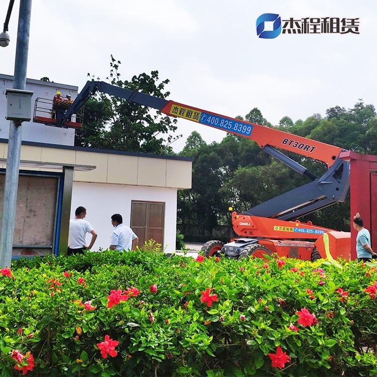 30米直臂高空车出租应用于建筑物维护