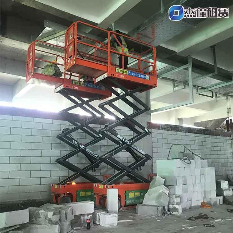 6米剪叉升降平台出租应用于厂房装修工程