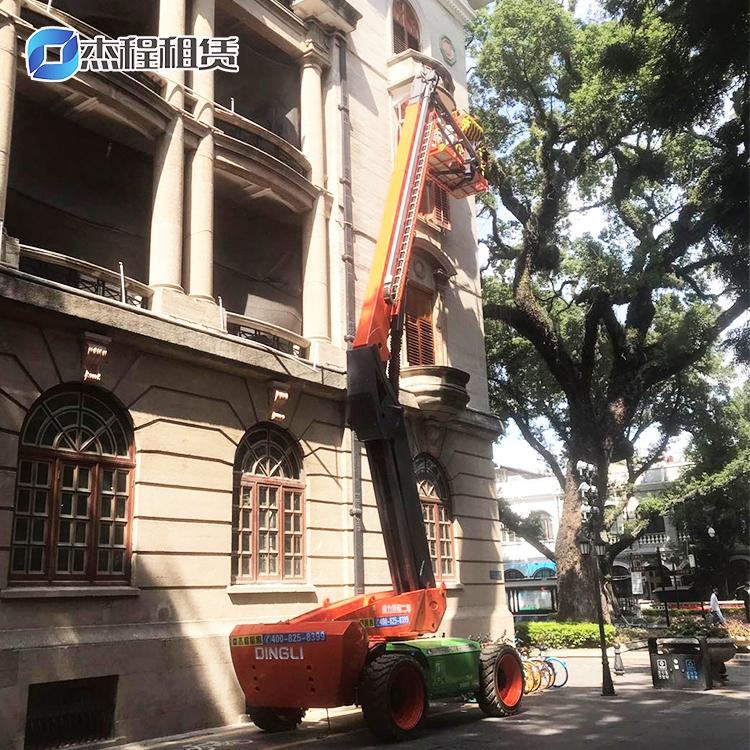 24米电动直臂升降车出租应用于广州沙面古建筑维护