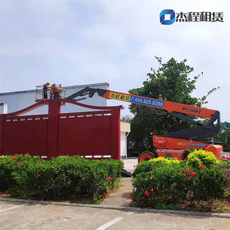 30米直臂高空车出租应用于高速服务区维护