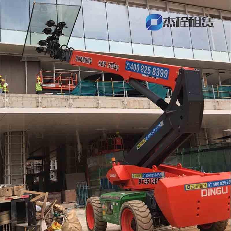 1200KG电动玻璃吸盘车出租应用于高层建筑玻璃幕墙安装