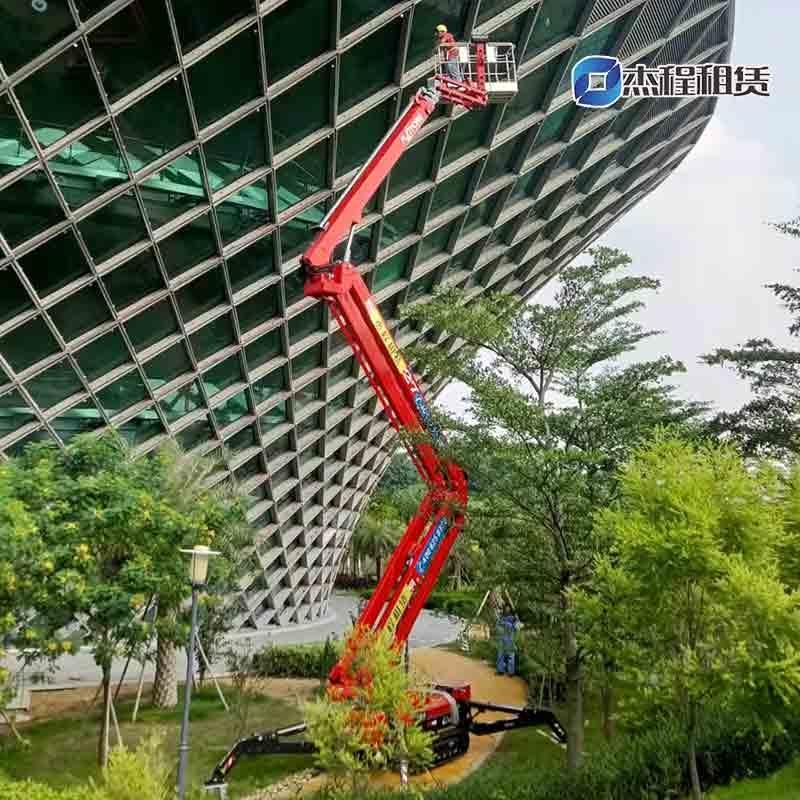蜘蛛车出租应用于建筑物维护工程